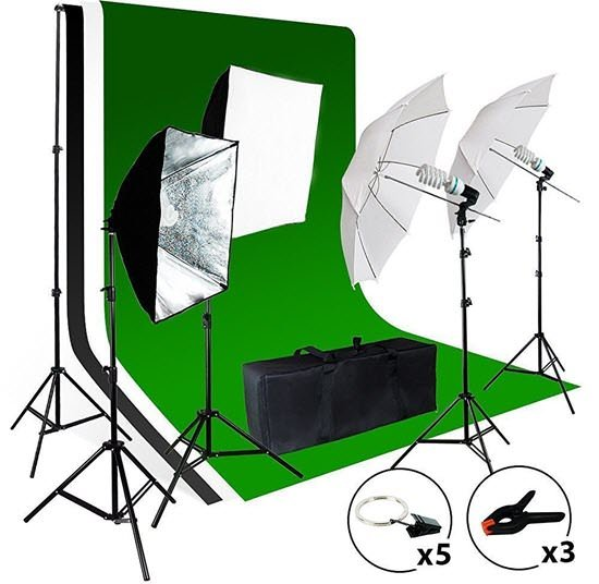 LimoStudio Umbrella Softbox Lighting Kit