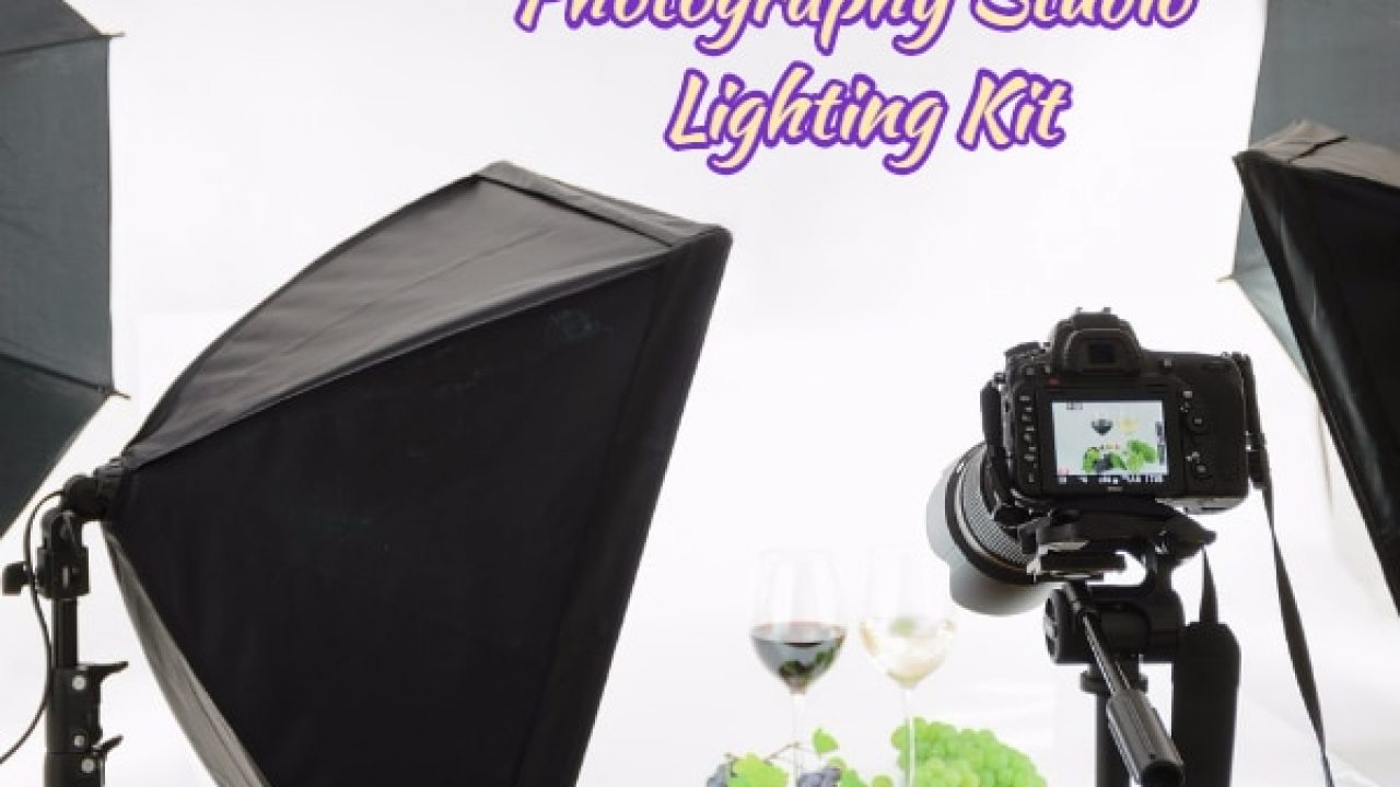 Ardinbir Studio Photo 3000W Continuous light Softbox Boom Lighting Kit and Background Backdrop Support Stand System